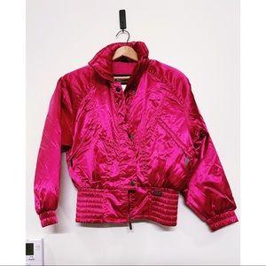 Vintage Metallic Hot Pink 90s Ski Jacket